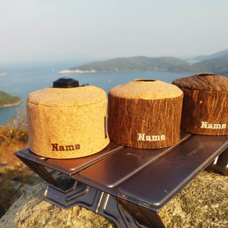 Personalized Name Cork Camping Gas Cover Fuel Canister Protector Cylinder Warmer