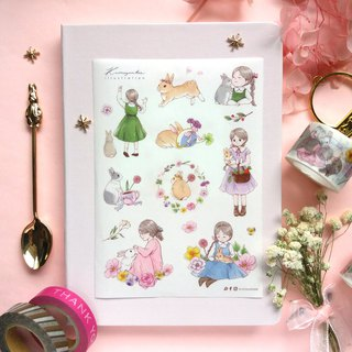 Rabbit and Me - Rolled Paper Stickers