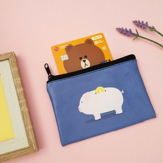 Save money pigs. Handmade sewing small purse