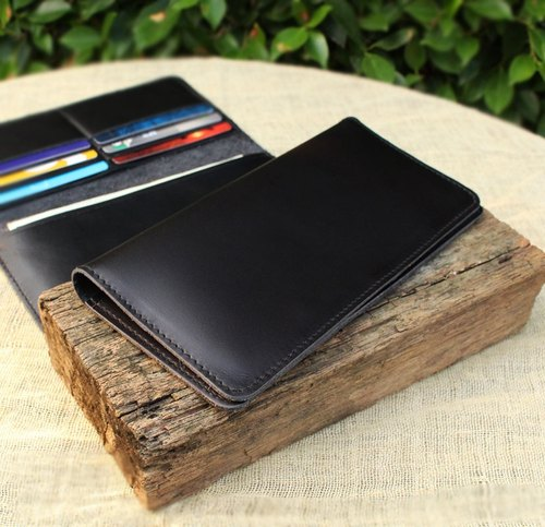 Wallet - My Soft - Black (Genuine Cow Leather) / Leather Wallet / Long Wallet