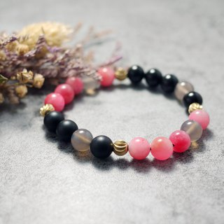 Natural Stone Bracelet - Pink Moon (accessories/gifts/pink/mashup)