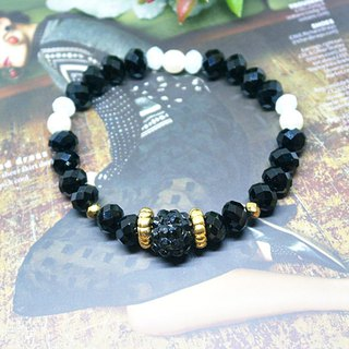 Czech Crystal Bracelet - Black Dot - Limited X1-