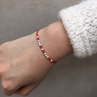 Lucky Nine Silver Ball Bracelet | Lucky Bracelet | Red Bracelet