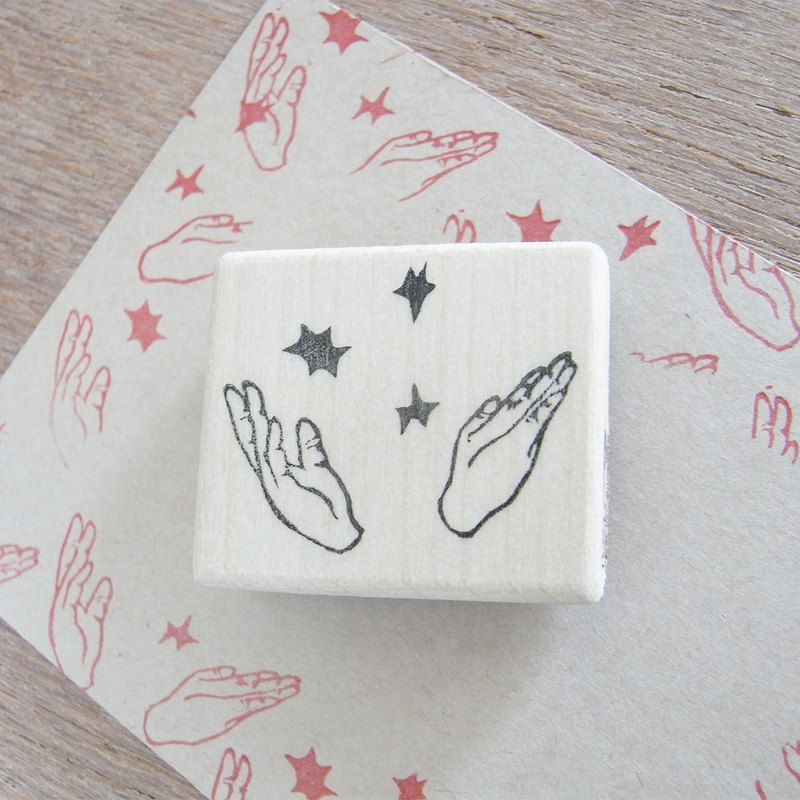 Handmade rubber stamp Applause