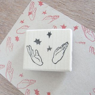 "Handmade rubber stamp ""Applause"""