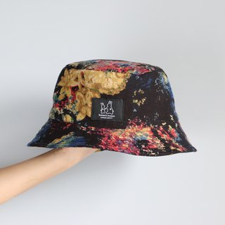 Black floral fisherman hat