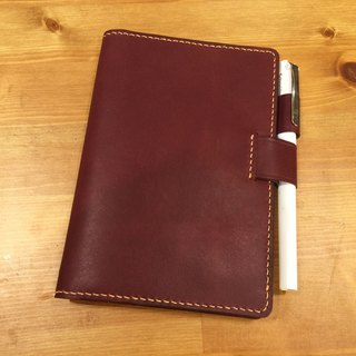 艺创小室 | Customized vegetable tanned leather hand-stitched red book cover notebook