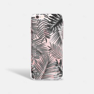 Tropical Leaves iPhone 6/6S Case, Summer iPhone Case, Clear TPU iPhone 6 Case
