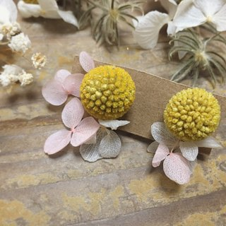 Emily - gold hammer flower earrings / ear clip, a little little woman gentle and graceful