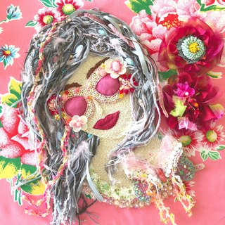Joie de vivre 〜You only live once〜  embroidery art kawaii pink beads 手工 handmade