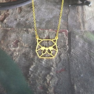 Exotic Short Hair, Geometric, Cat Necklace, Pet Jewelry, Cat Gifts, Gift for her