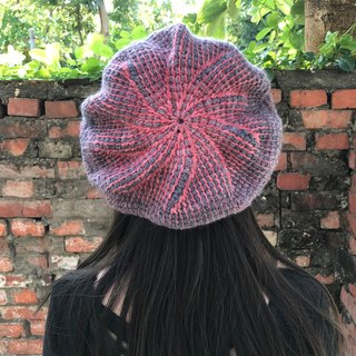 Ms. Forest Handmade Knitting - Red and Gray Hat / graduation color Berethat