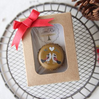 Magpies - Single Original Chocolate Chocolate Macaron with packaging
