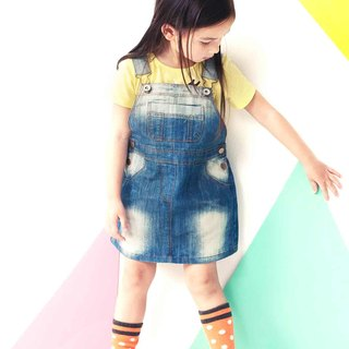 Good girl gradient brush color denim Dress