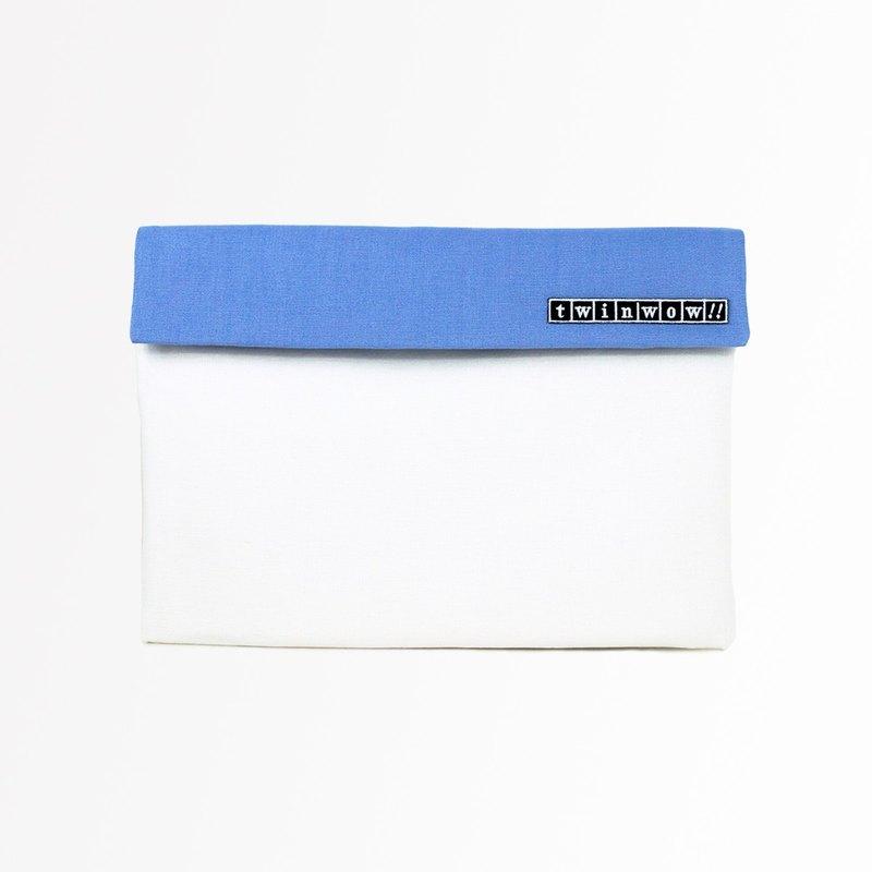 時尚筆記 - 細緻質感平板包 - 玫瑰白藍