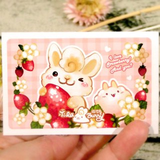 Card Sticker - Strawberry Rabbit 2.0