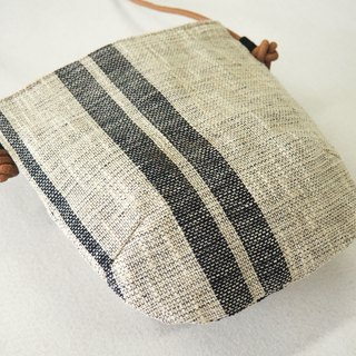 Cotton and linen hand weaving small side bag