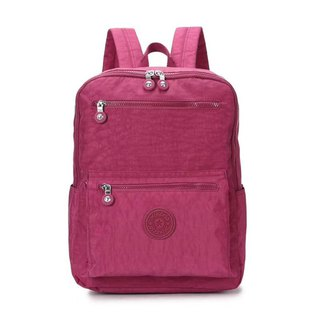 2018 new student bag waterproof nylon backpack simple wild travel bag leisure backpack - red # 8506