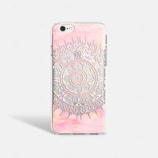 Mandala iPhone 7 Case Clear iPhone 8 Case Clear iPhone 7 Plus Case iPhone 6S