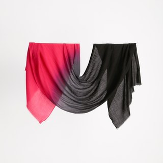 100% Pashmina peach dark gradient