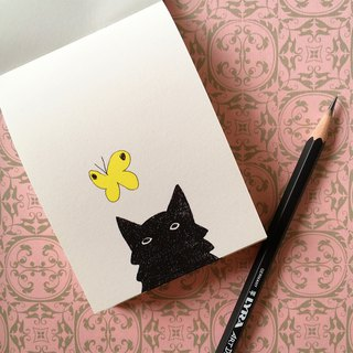 Flipbook memo pad  The Cat and Butterfly