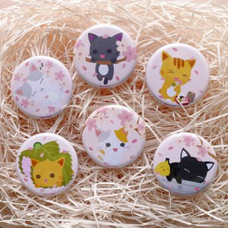 Sakura Hanami Mini Badges - Full Set