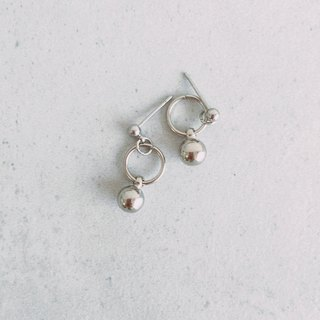 Marygo ﹝ Silver ball earrings ﹞
