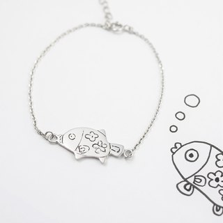Children's Art Jewelry / 925 Sterling Silver / Fish Bracelet / Advanced Custom