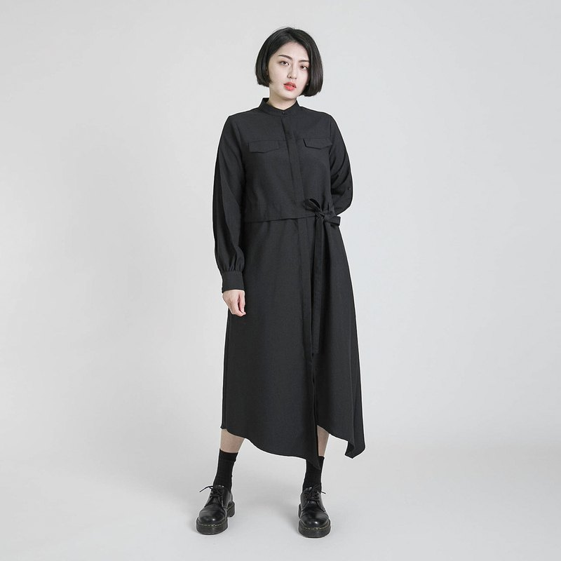 Outstand Asymmetric Dress _8AF105_Black