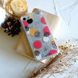 PATTERN LAB | Liquid Glitter Case for iPhone 6/6S/7/8 - Dots