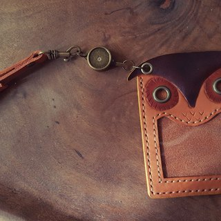 咕咕 Owl Plain Leather Extension Card / Easy Clip - Lettering (Birthday, Valentine's Gift)