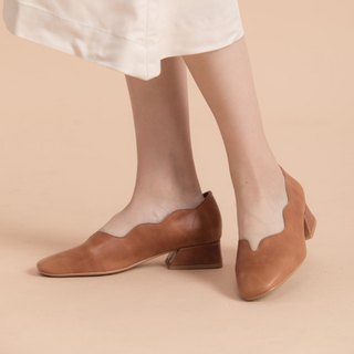 Curved River V Valley Trapezoidal Shoes - Driftwood