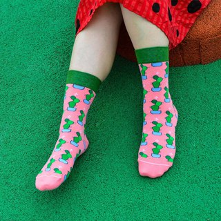 Peach powder fairy palm 4/3 socks