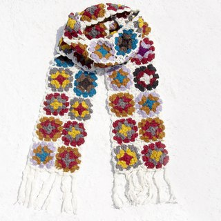 Christmas gift exchange gifts limited a handmade crocheted wool scarves / flowers crocheted scarves / crocheted scarves / hand-woven scarves / flowers woven stitching wool scarves - the season of flowers Nordic forest wind flower scarves