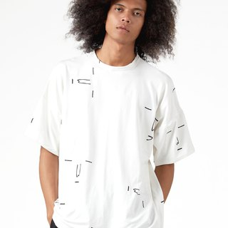 White Yay or Nay Oversized T-shirt