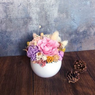 | Eternal love | Not withered. Dry flowers. Carnations. rose. Mother's Day Potted Flowers