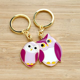 """Custom Birthday / Valentine / Christmas / owl"" Perfect Together Keychain - Owl ""custom lettering mine service"""