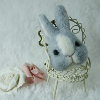 Wool felt rabbit key chains/necklaces/brooches