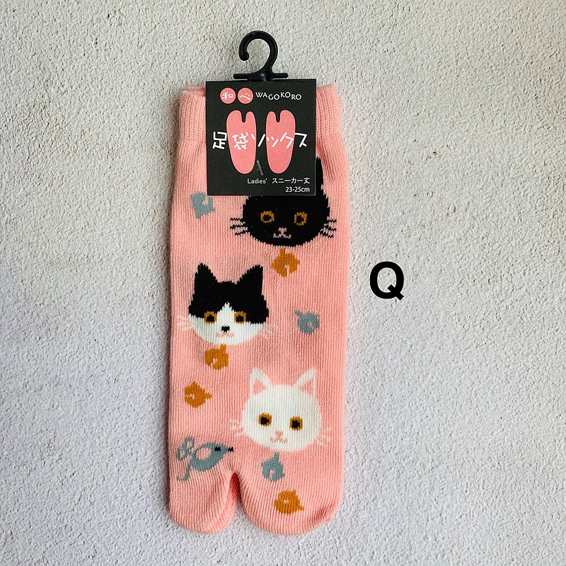 足袋襪 兩指襪-Q貓咪-日本和心WAGOKORO品牌