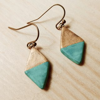 Caribbean Blue and Gold Ceramic Earrings