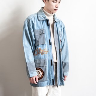 Vintage large size! Stitching wind vintage jacket