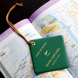 PLEPIC - Trip departure diamond bag tag - Forest Green, PPC93068