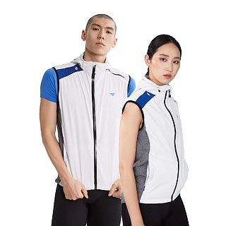 【SUPERACE】MEN'S URBAN SOFTSHELL RUNNING GILET / WHITE