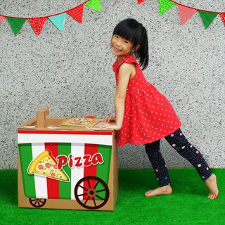 Mini kitchen (with Pizza booth sticker) Defend home wine DIY parent-child creative gift green toy