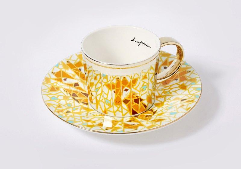 Luycho 鏡面倒影杯組 咖啡杯 _ 長頸鹿