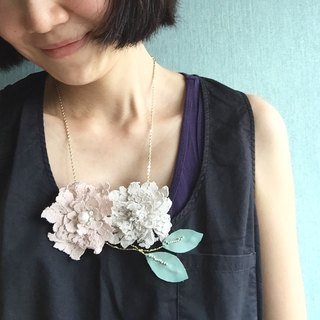 [Bluesy Mod] --- Peony Flower in Lace. Sew lace peony flower necklace (BLF2)