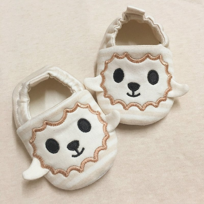(Rabbit Mint Baby) with a sheep walk the organic cotton embroidered baby toddler shoes - (BBS-S0001)
