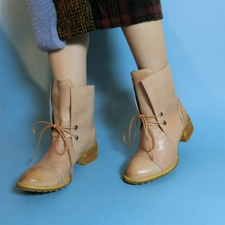 Thick with the tube cowboy boots || Bremen winter does not plug the camel yellow || # 8086