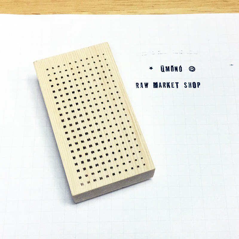 Raw Market Shop Wooden Stamp【Shape Series Dots No.150】