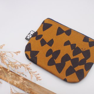 Ping Le Small Pack - Butterfly Peace (retro coffee), Japanese cotton, double color wallet